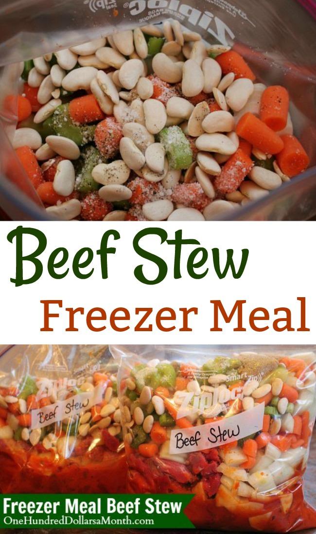 Freezer Meals – Beef Stew