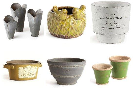 cool garden pots