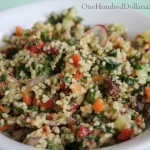 couscous Salad with Red pepper and cucumber