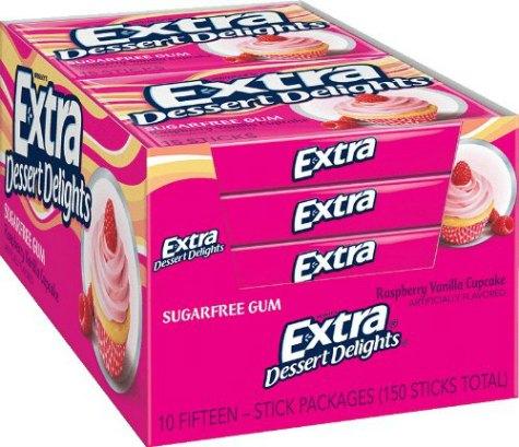 extra raspberry gum