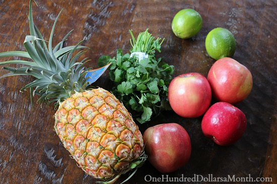 fresh pineapple fruit