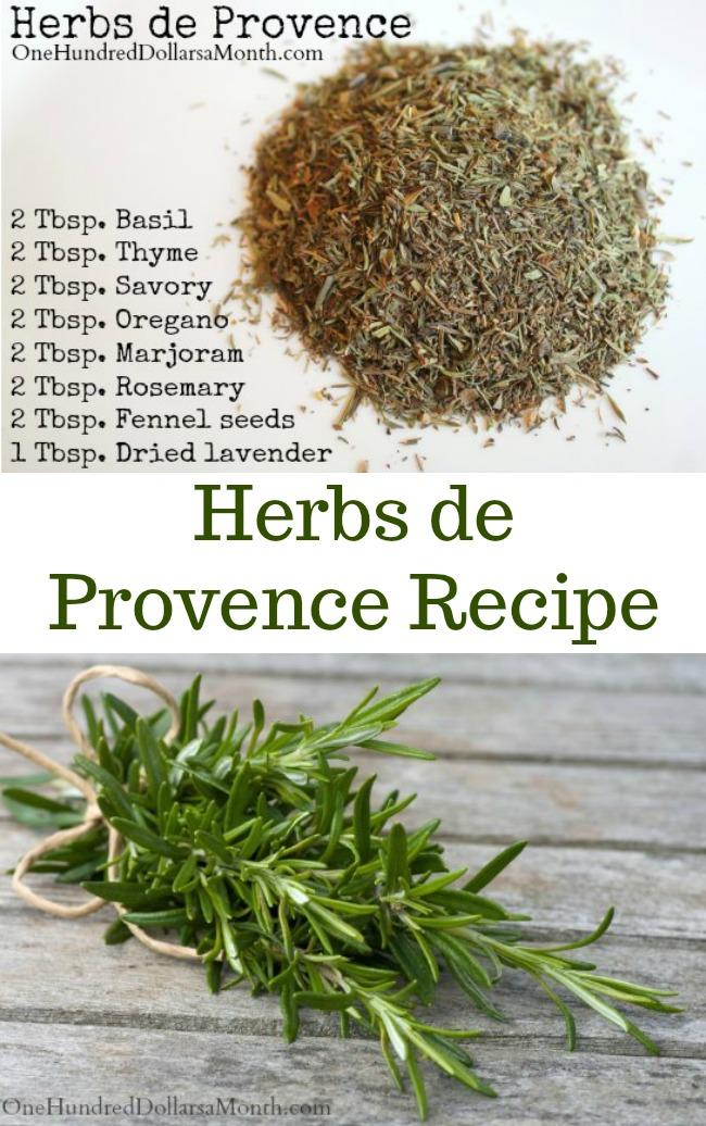 DIY Herbs de Provence Recipe