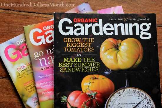 Organic Gardening Magazine $4.50 for a 1 Year Subscription