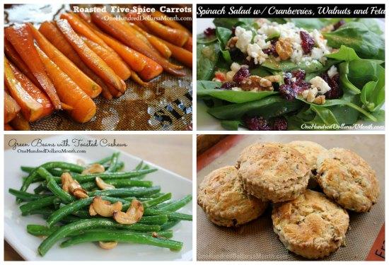 weekly menu plan vegetables