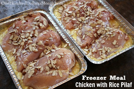 Easy Freezer Meals – Chicken with Rice Pilaf