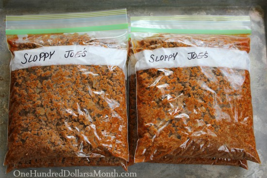 Easy Freezer Meals - Sloppy Joes