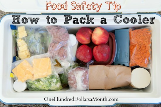 Food Safety Tip – How to Pack a Cooler