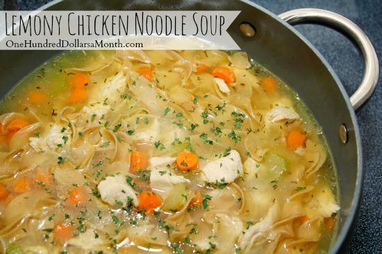 Lemony Chicken Noodle Soup