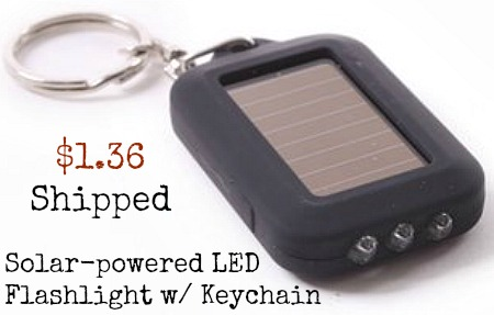 Solar-powered LED Flashlight  Keychain