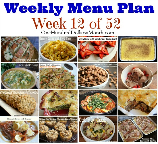 Weekly Meal Plan – Menu Plan Ideas Week 12 of 52