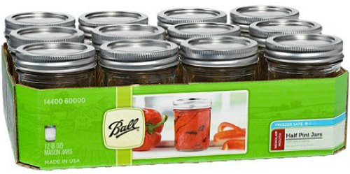 ball half pint canning jars