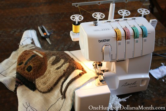 brother serger lock 1034D