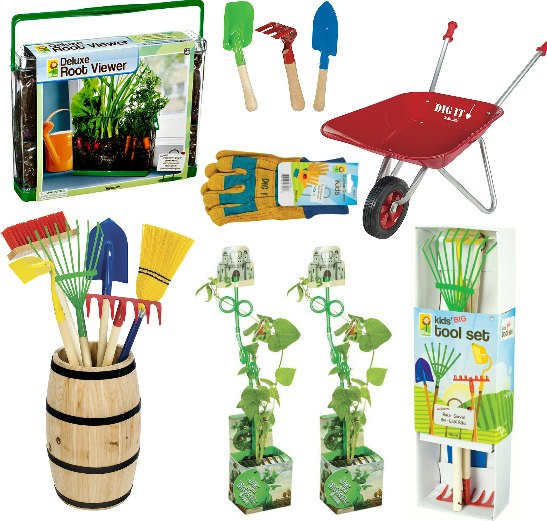 kids childrens garden tools