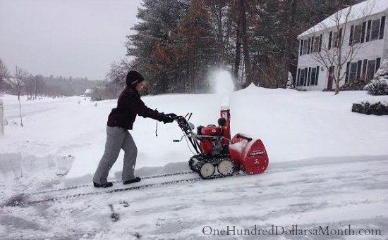 snow blower winter