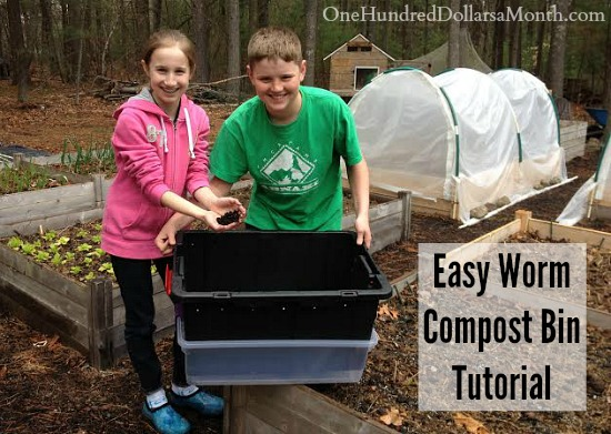 Easy Worm Compost Bin Tutorial