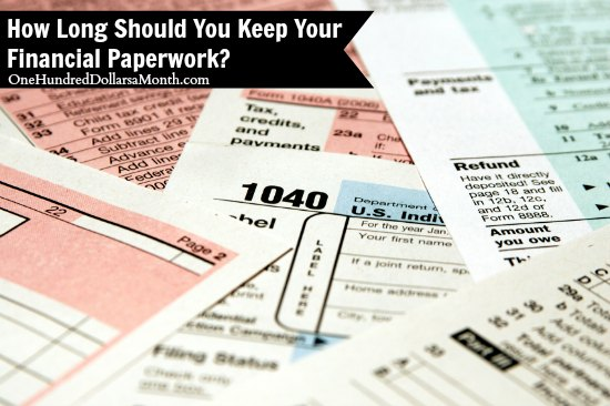 How Long Should You Keep Your Financial Paperwork?