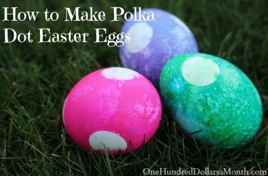 How to Make Polka Dot Easter Eggs