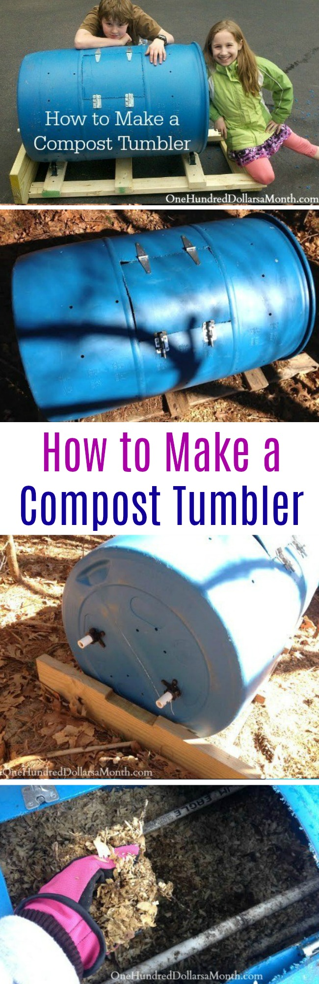 DIY – How to Make a Compost Tumbler