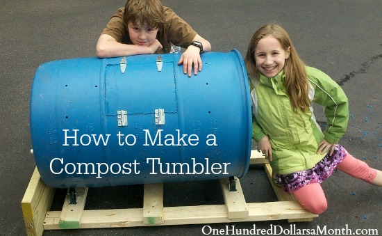 Diy How To Make A Compost Tumbler One Hundred Dollars