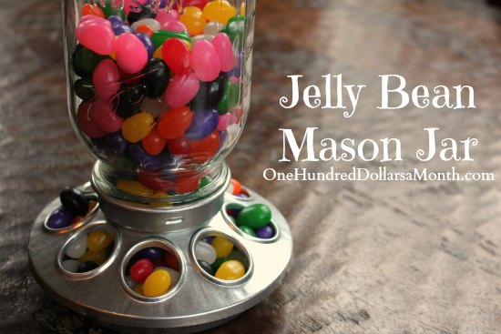 Jelly Bean Mason Jar – Upcycling a Chick Feeder