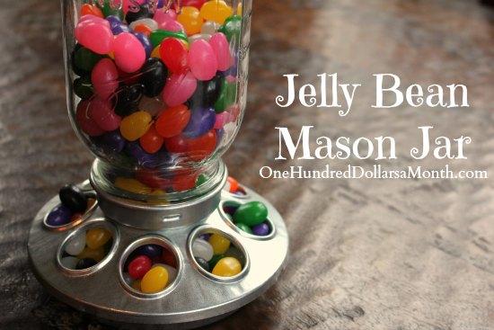 Jelly Bean Mason Jar – Upcycling a Chick Feeder