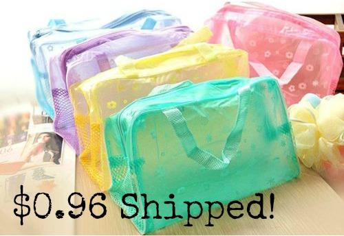Multipurpose Floral Crystal Comestic Makeup Beauty Storage Travelling Bath Bag