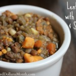 Vegetarian Lentil Stew with Pumpkin and Spinach