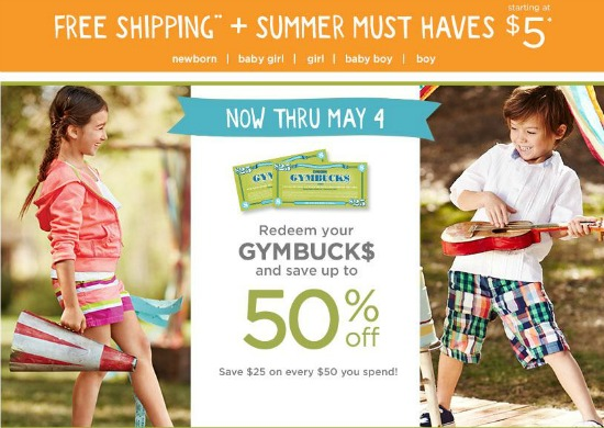 gymboree coupon