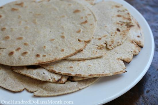 homemade whole wheat tortilla recipe