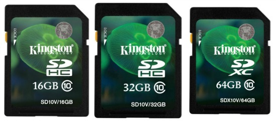 kingston memory cards