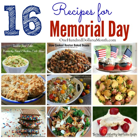16 Recipes for Memorial Day