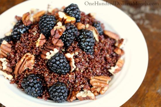 Blackberry and Toasted Pecan Quinoa