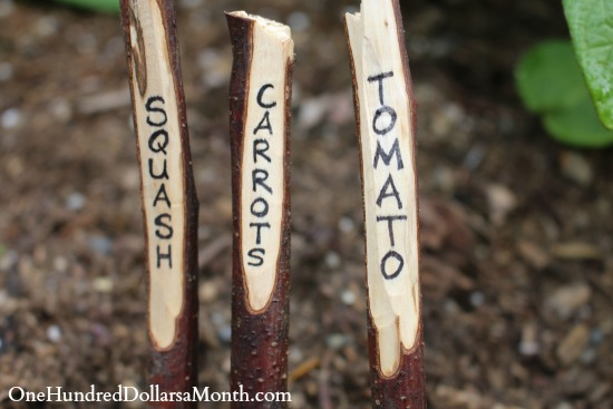 DIY Garden Markers Made From Sticks