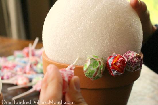 Flower Pot Candy Bouquet
