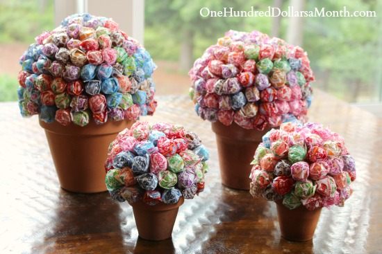 how to make a flower pot candy bouquet