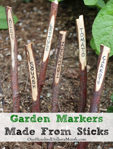 Garden Markers Made From Sticks