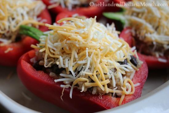 Ground Beef and Rice Stuffed Peppers