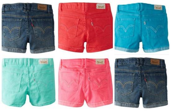 Levi Girls Jean Shorts