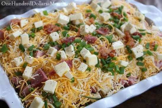 Loaded Baked Potato & Ham Casserole
