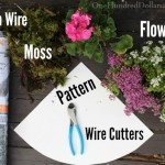 Moss Lined Hanging Flower Basket Made Chicken Wire