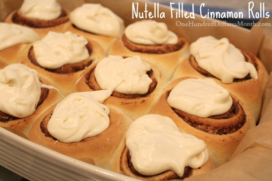 Nutella Filled Cinnamon Rolls