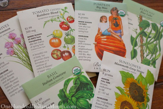 Garden Markers – Laminated Seed Packets