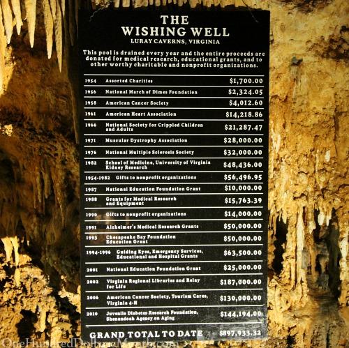 luray caverns wishing well
