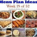 Weekly Meal Plan – Menu Plan Ideas Week 18 of 52