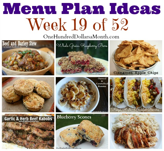 Weekly Meal Plan – Menu Plan Ideas Week 19 of 52