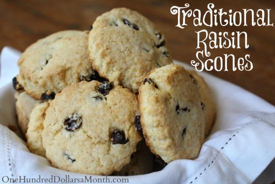 Traditional Raisin Scones
