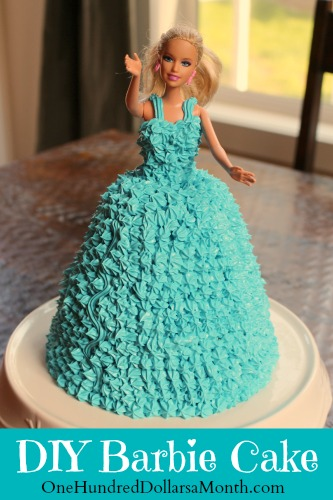 How To Make A Barbie Cake One Hundred Dollars A Month