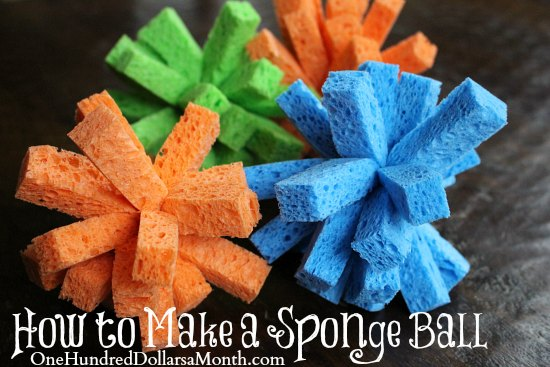 how to make a sponge ball