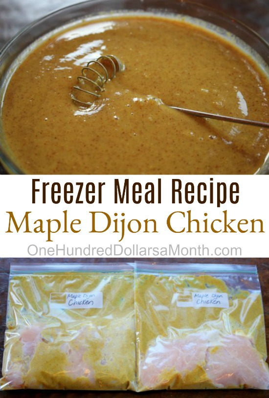 Freezer Meal Recipe – Maple Dijon Chicken