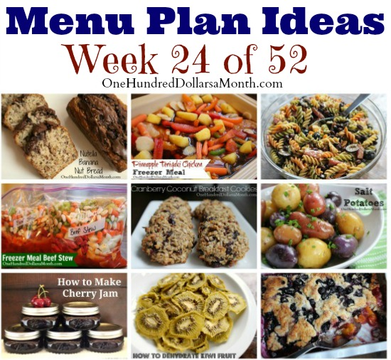 Weekly Meal Plan – Menu Plan Ideas Week 24 of 52